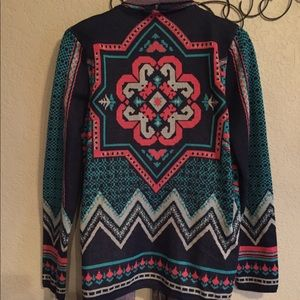 Large flying tomato cardigan Aztec pink tassel